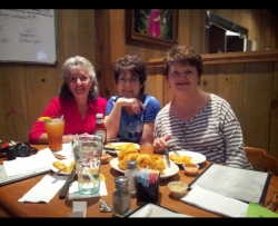 The Origin of our Lunch Bunch!  Sylvia, Claudia and Glenda way back in May 0f 2014!