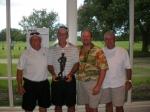 The Winners!  Jack Harless, Rudy Sparks, Darrell Guidroz and Richard Watts